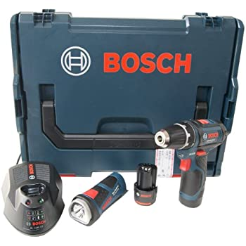 Bosch 0601990EV5 Perceuse-visseuse sans fil 0 615 990 EV5 GSR 10,8 V-2-LI et GLI 2 x 1,5 Ah L-Boxx