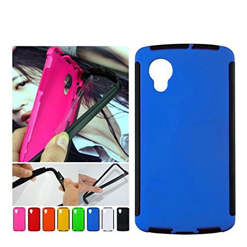 For Google LG Nexus 5 Front + Back 2 in 1 Full Body Touch Screen Protector Hard Case Cover - BLUE  available at amazon for Rs.299
