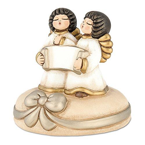 THUN i Classici Carillon Sissi con Targhetta, Ceramica, Bianco, 14.5 x 13.5 x 14 cm,
