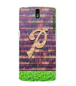 YuBingo OnePlus One :: OnePlus 1 :: One Plus One Designer Phone Back Case Cover ( Passionate Letter P (Wooden Finish Printed on Plastic) )