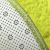 BAIBAI Teppich-Teppichboden Runder Teppich-modernes einfaches Schlafzimmer-Teppich-Ausgangswirtschafts-Teppich-Normallack-Teppich-Sofa-Teppich-Teppich,120 x 120 cm,A
