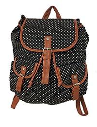 93403dedac  UK SELLER  No1 Gifts White Dot Design Lightweight Cute Pattern Canvas  Backpack Young Girls School Backpack Women Rucksack…