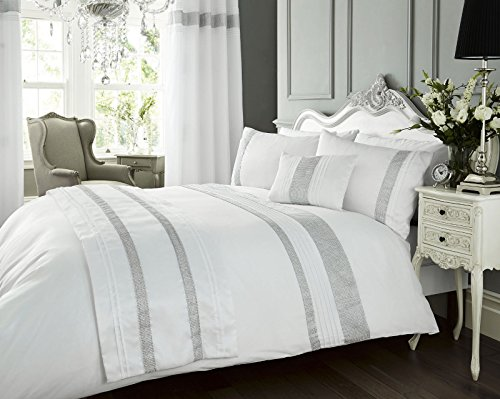 White King Duvet Cover Set - Diamante Bed Linen / Bedding WOW Factor by Portfolio (Portfolio Abdecken)