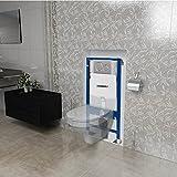 Pack WC suspendu complet GEBRITE couleur blanche avec une plaque Double touche