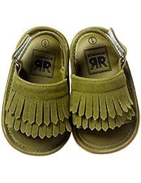 Zapatos de niños, Calzados/Zapatillas/Sandalias de niños Sandalias Antideslizantes de Suela Suave para niñas pequeñas Sandalias de Verano para niñas pequeñas de Cuero para niños pequeños