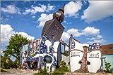 Posterlounge Acrylglasbild 120 x 80 cm: Huntertwasserhaus in Abensberg, Niedernbayern von Christian Müringer - Wandbild, Acryl Glasbild, Druck auf Acryl Glas Bild
