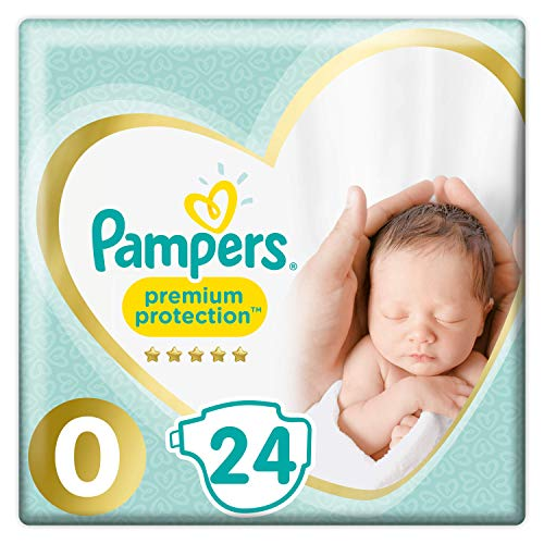 Pampers Premium Protection New Baby Gr. 0 (Micro), 1-2,5 kg Tragepack, 24 Windeln, 6er Pack (6 x 24 Stück)