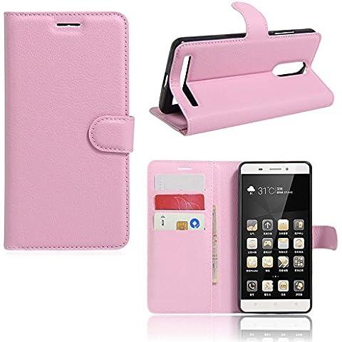 Guran® Funda de Cuero Para Lenovo K5 Note Smartphone Tirón de la Cubierta de la Función de Ranura Tarjetas y Efectivo Caso