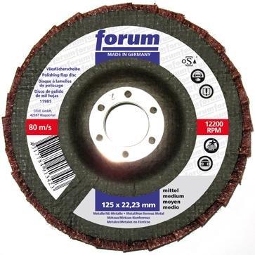 Forum 4317784913430 Disque à lamelles Grain très fin 125 mm