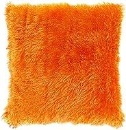 Taraf Orange 45 X 45 Cm Velour Cushion
