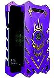 BINGRAN Xiaomi Black Shark Hülle, [Vulcan Series] [Hohle Design] Luxus Luftfahrt Aluminium Metall Robuste Armor Metal Case Hart Robuste Starke Schutzhülle für Xiaomi Black Shark 5.99