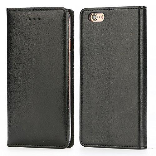 Coque iPhone 6 / 6S Housse, IPHOX Etui en Cuir Portefeuille de Protection, Emplacements Cartes avec Fonction Support et pour iPhone 6 / 6S , Noir / E