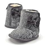 TININNA Inverno Caldo Carino fondo morbido addensare baby Shoes Scarpe bambino Pattini di bambino Grigio 11 cm