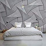 Cczxfcc Moderne 4D Tapeten Für Wände Zement Seidentuch Wandbilder Stereoskopische Graue Wand Schlafzimmer Wohnzimmer Dekorative Wandmalereien-400Cmx280Cm