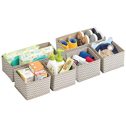 MDesign Cajas almacenaje juego de 6 - Cajas almacenaje ropa, toallas, sábanas - Ideales cajas organizadoras...