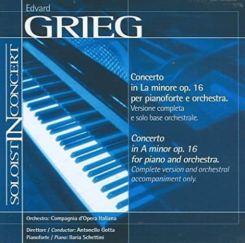 Music Minus One Piano: Grieg Piano Concerto in A-minor, op 16 (Soloist-In-Concert Series) by Compagnia d'Opera Italiana (2012-01-16)