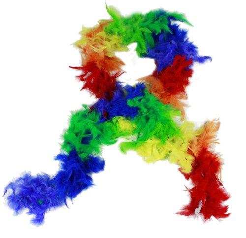 Boa Farbe Regenbogen bunt 180 cm für Fasching Karneval Party ()