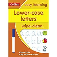 Lower Case Letters Age 3-5 Wipe Clean Activity Book (Collins Easy Learning Preschool)