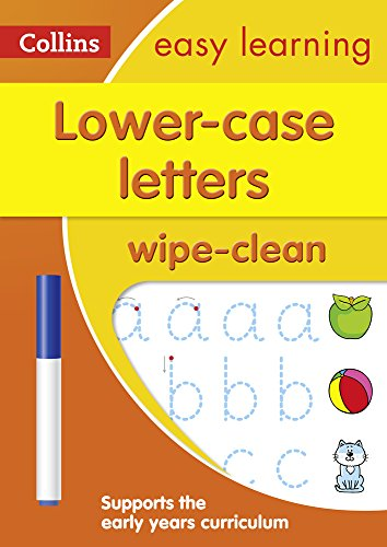 Lower Case Letters Age 3-5 Wipe Clean Activity Book (Collins Easy Learning Preschool) Test