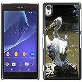 Grand Phone Cases Etui Housse Coque de Protection Cover Rigide pour // M00141234 Pelícano dálmata Pelikan Move // Sony Xperia Z2 L50W