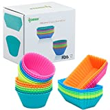 Best Freshware Cake Pans - Freshware CB-300x308SC Silicone Rainbow Colors Reusable Cupcake Review