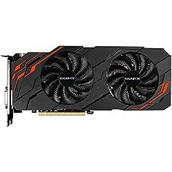 Gigabyte GV-N107TWF2-8GD GeForce GTX 1070 Ti 8Go GDDR5 Carte Graphique - Cartes Graphiques (GeForce GTX 1070 Ti, 8 Go, GDDR5, 256 bit, 7680 x 4320 Pixels, PCI Express x8 3.0)
