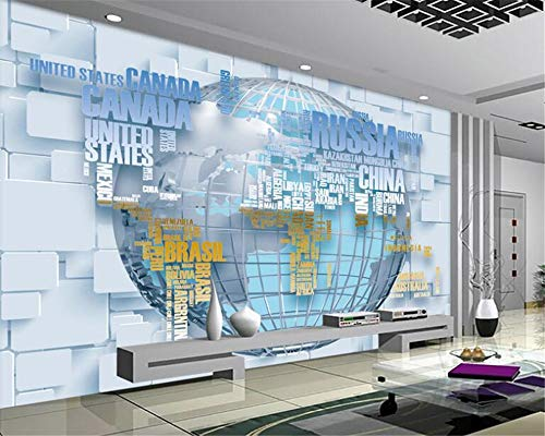 MuralXW HD personalisierte Mode Interieur Tapete Hintergrundbild 3D Wallpaper Alphabet Karte 3D TV Hintergrund Wand Papier Peint-280x200cm
