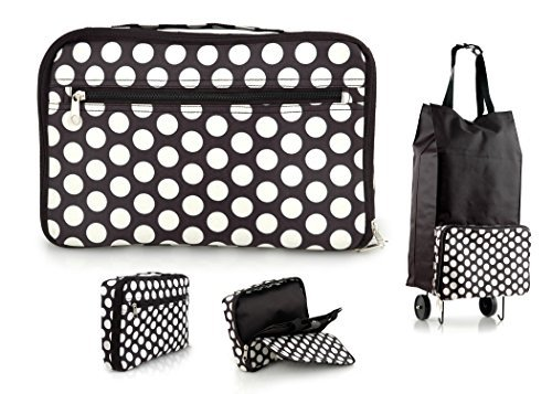 ladies-fold-up-shopper-shopping-trolley-bag-with-wheels-black-with-white-dots