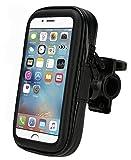 Fahrradhalterung Lenkrad Halter Universal wasserdicht wasserfest Tasche Schale Hülle für Smartphones iPhone Samsung LG HTC Sony Nokia extra Groß - in Schwarz von TW-Handy
