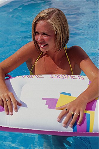 657082 Girl With Air Mattress In Pool Ibiza Spain A4 Photo Poster Print 10x8