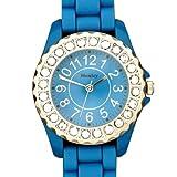 Henley - H0826.6 - Montre Femme - Quartz Analogique - Bracelet Silicone Bleu