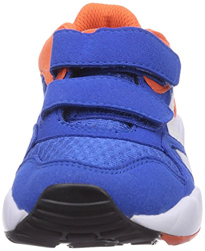 Puma Xs 500 Kids, Baskets Basses mixte enfant Bleu - Blau (strong blue-white-nasturtium 05)