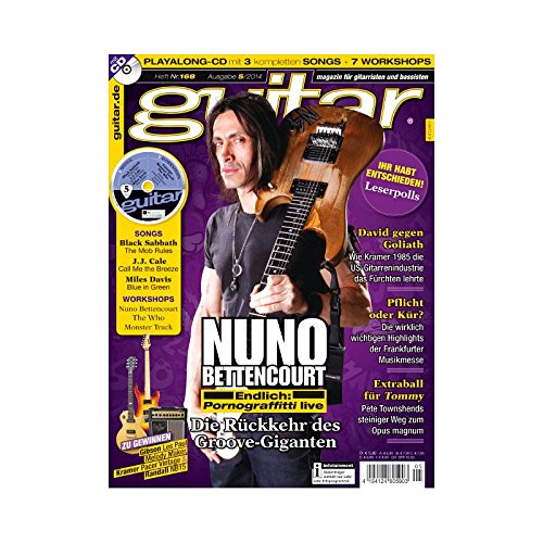 Guitar 5 2014 mit CD - Nuno Bettencourt - Interviews - Gitarre Workshops - Gitarre Playalongs - Gitarre Test und Technik Fender Squier J-bass