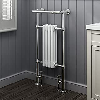 iBathUK | 4 Column Traditional Designer Heated Towel Rail Bathroom Radiator