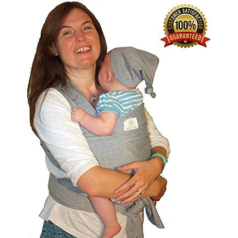 NEW NCT Baby Sling con Free–Cappello e tasca & # x2764; un accogliente e leggero Baby Carrier, innamorati, per mamma e papà & # x2764; grigio neutro - Baby Doll Sling