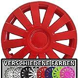 (Farbe & Größe wählbar!) 13 Zoll Radkappen AGAT (Rot) passend für fast alle Fahrzeugtypen (universal)