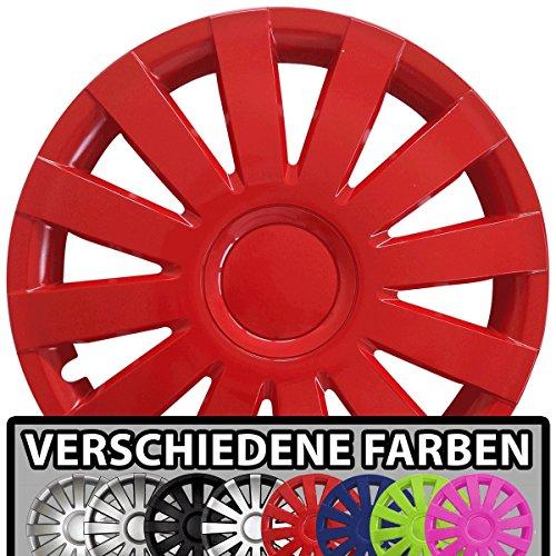 (Farbe & Größe wählbar!) 16 Zoll Radkappen AGAT (Rot) passend für fast alle Fahrzeugtypen (universal)