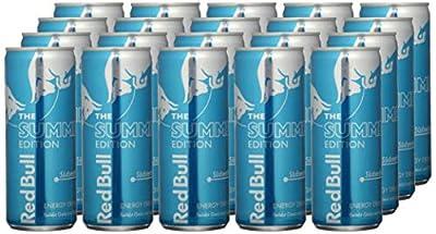 Red Bull Energy Drink Südseefrüchte OHNE Pfand Dosen Getränke, 24er Pack (24 x 250 ml)
