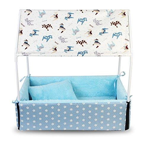 LEVB casa caseta jaula tienda Ideal para perro y gato de hasta 12Kilos a Manita en tu interior