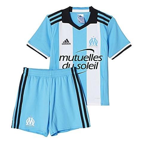 adidas Olympique Marseille Survêtement Mixte Enfant, Om Blue/White/Black, FR : 92 (Taille Fabricant : 92)