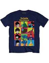 Rockoff Trade the Beatles Ycdt Cbml Raglan, Camiseta para Hombre, Azul (Marino), Large amazon el-blanco Rock