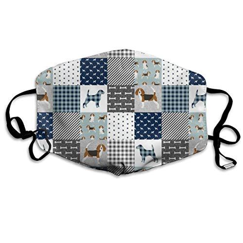 Desing shop Beagle Haustierdecke, für Hunde, gegen Staub, waschbar, wiederverwendbar, Mund
