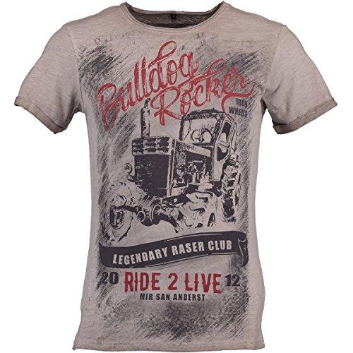 Hangowear Trachten T-Shirt Mitch grau, Gr.S Herren