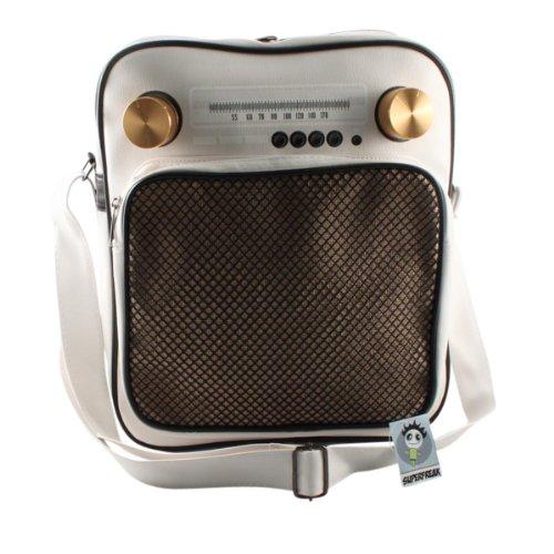"""Superfreak® Tasche """"Radio"""" Umhängetasche Radiotasche groß & hoch, alle Farben!!! Weiß"""