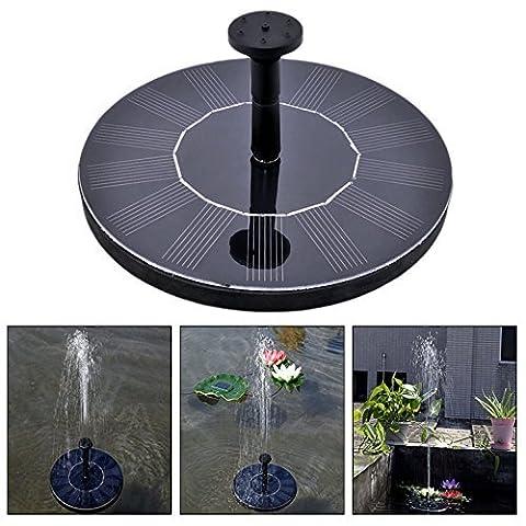 Itian Outdoor Solar Powered Wasser schwimmende Pumpe Brunnen Solar schwimmender Mini Pumpe Garten Wasserpumpe Vogelbad Teich Pool und