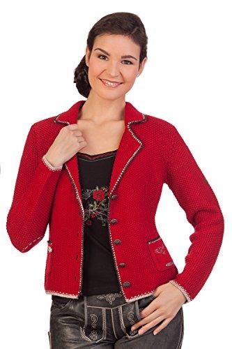 Damen Trachten Strickjacke - WERONIKA - rot, grasgrün, Größe S