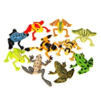 Unique Party 74065 - Plastic Frogs Party Bag Fillers, Pack of 10
