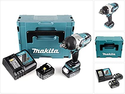 Makita DTW 1001rtj 18V atornillador de impacto (batería de ion de litio Brushless en Makpac + 2x BL 18505,0Ah Batería + DC 18RC Cargador rápido