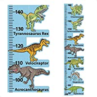 StickersMagic | Dinosaur Height Chart Wall Sticker, Kids Room Children Nursery Growth Measuring Ruler, 100% REMOVABLE Decal, Perfect Present Birthday Gift for 5 6 7 8 Year Old Boys