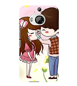99Sublimation Boy and Girl Kissing 3D Hard Polycarbonate Back Case Cover for HTC One M9 Plus